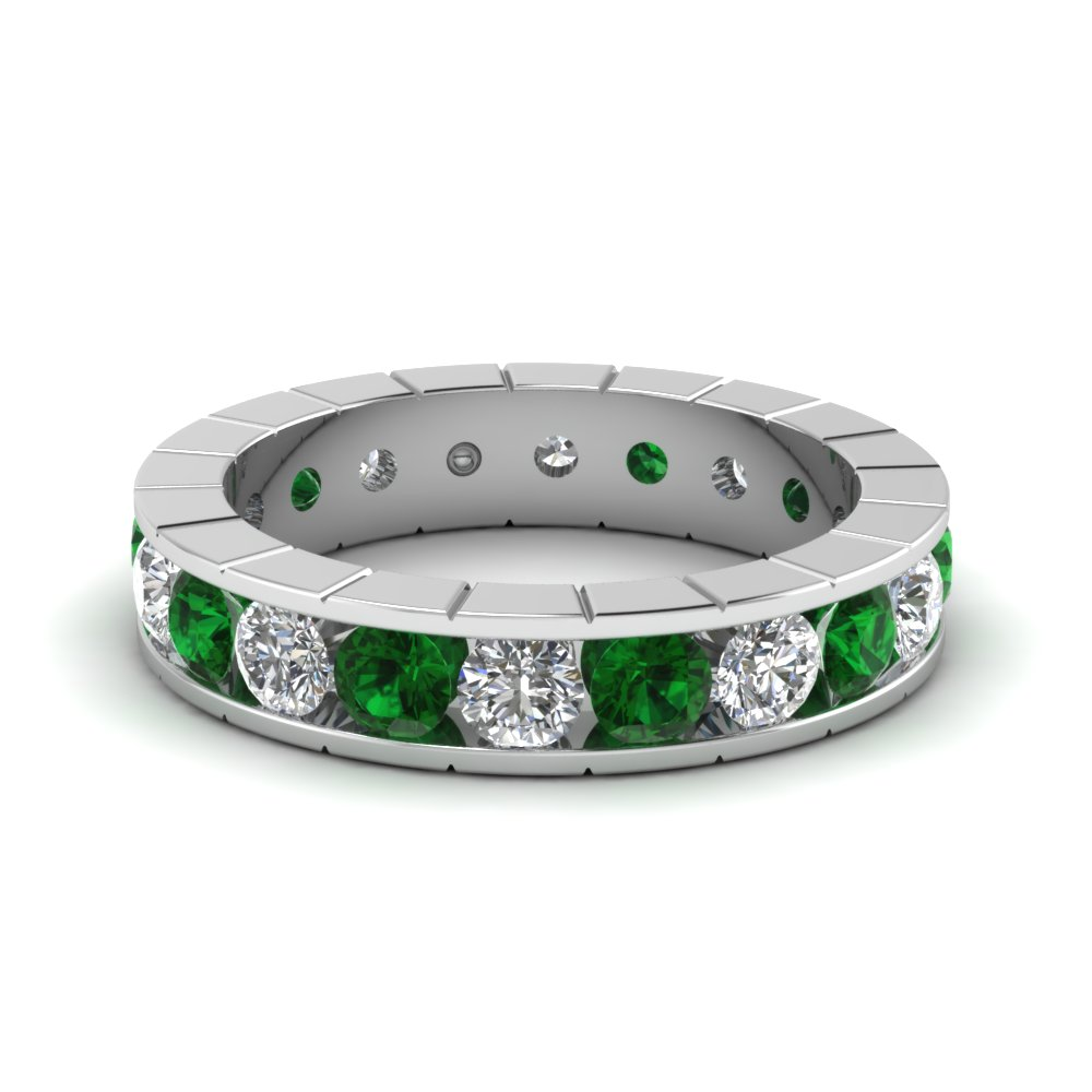 Delicate Emerald Channel Band