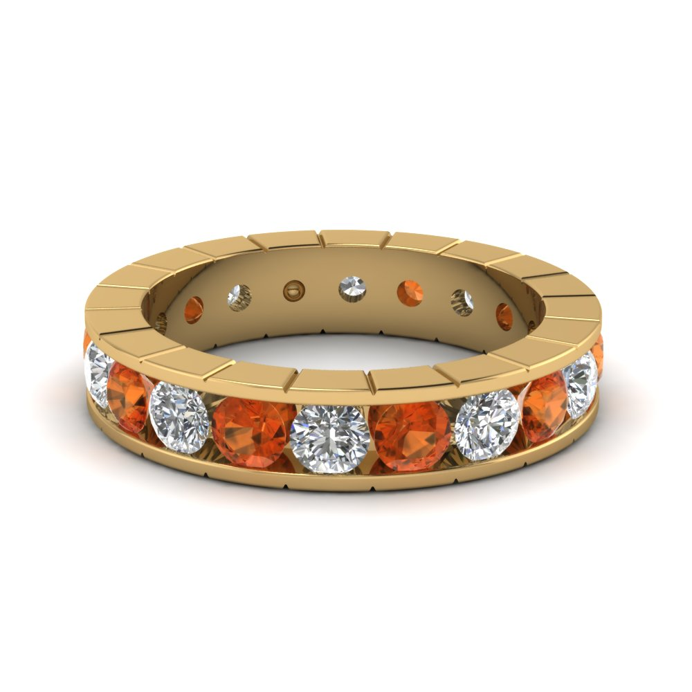 Orange Sapphire Eternity Band