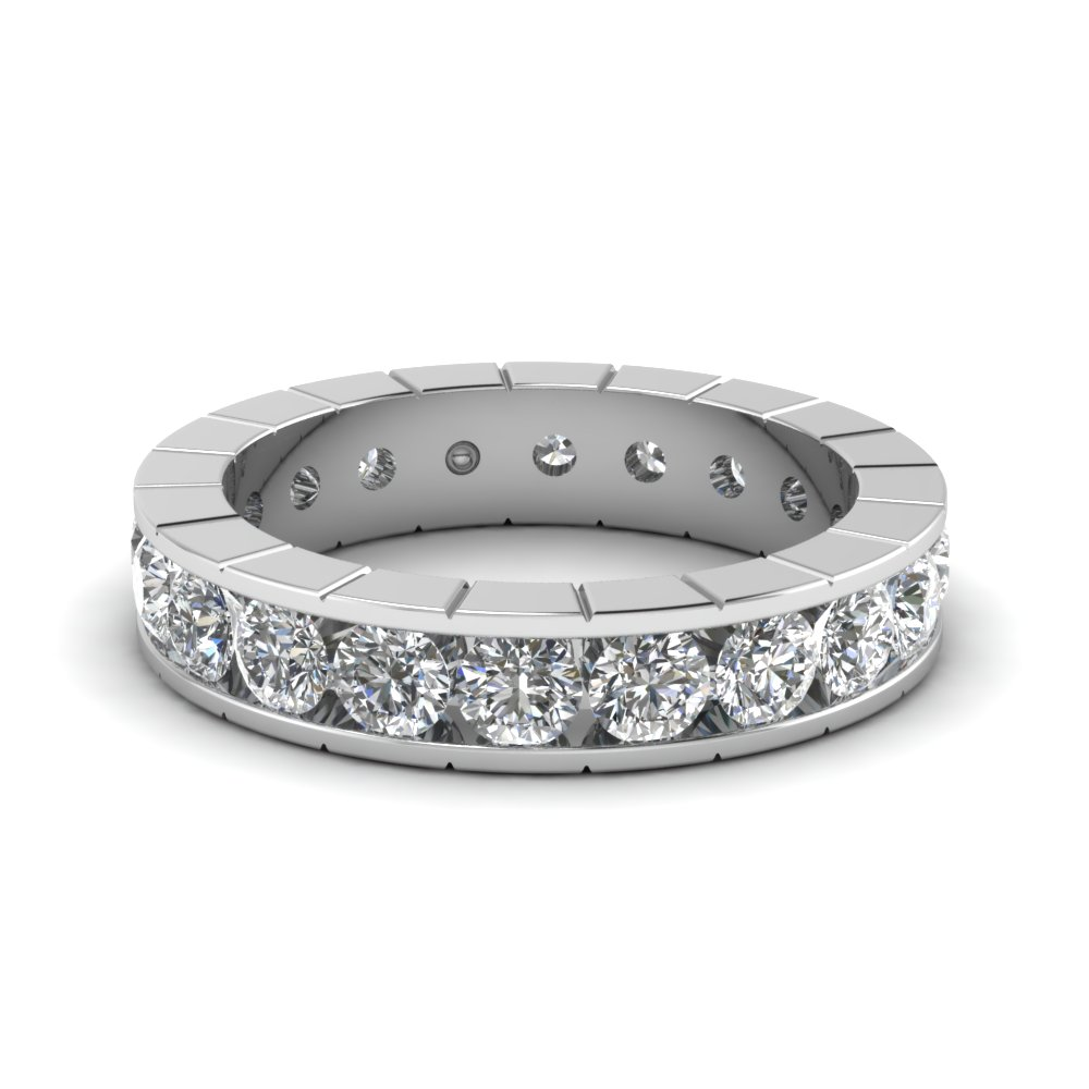 Platinum Channel Diamond Band