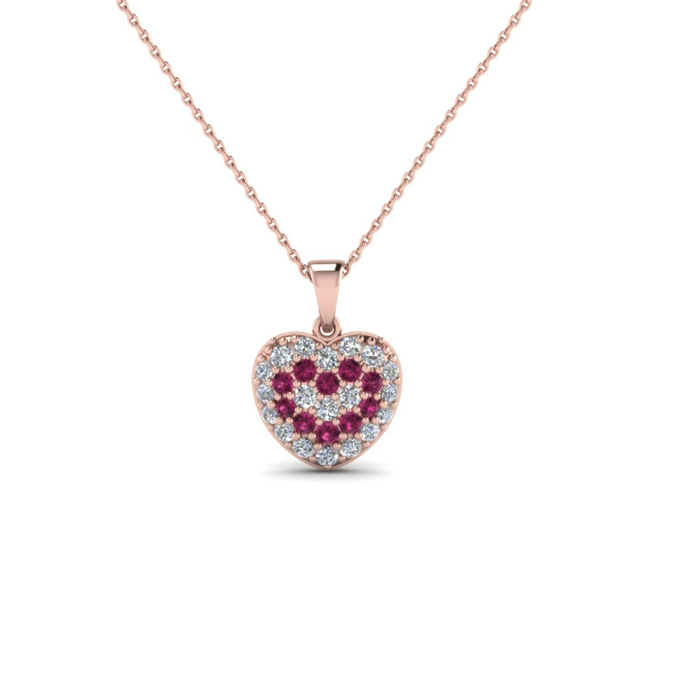 Heart Diamond Cluster Pendant