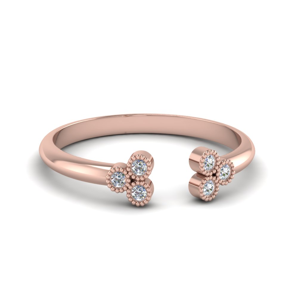 cluster diamond open cuff ring in FD8296ROR NL RG