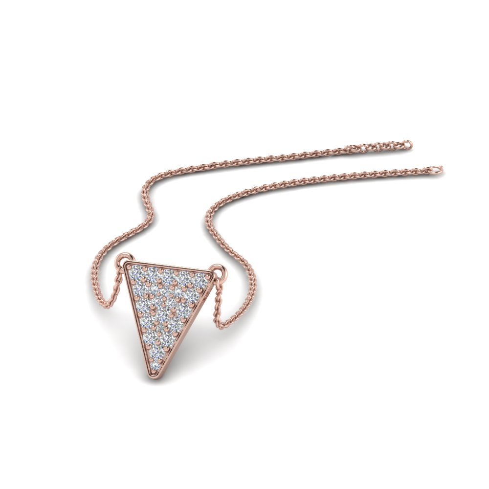 Cluster Diamond Triangle Pendant