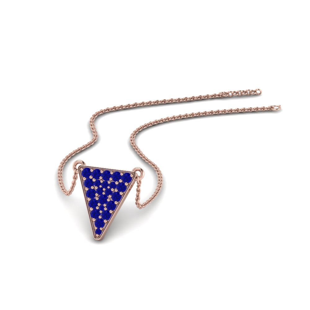 sapphire cabochon designer pendant diamond image triangular neckware necklaces