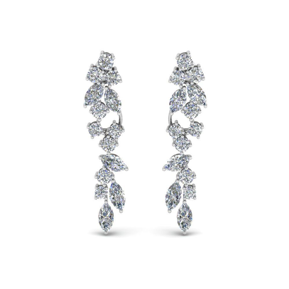 extraordinary diamond earring in 18K white gold FDEAR8468ANGLE1 NL WG