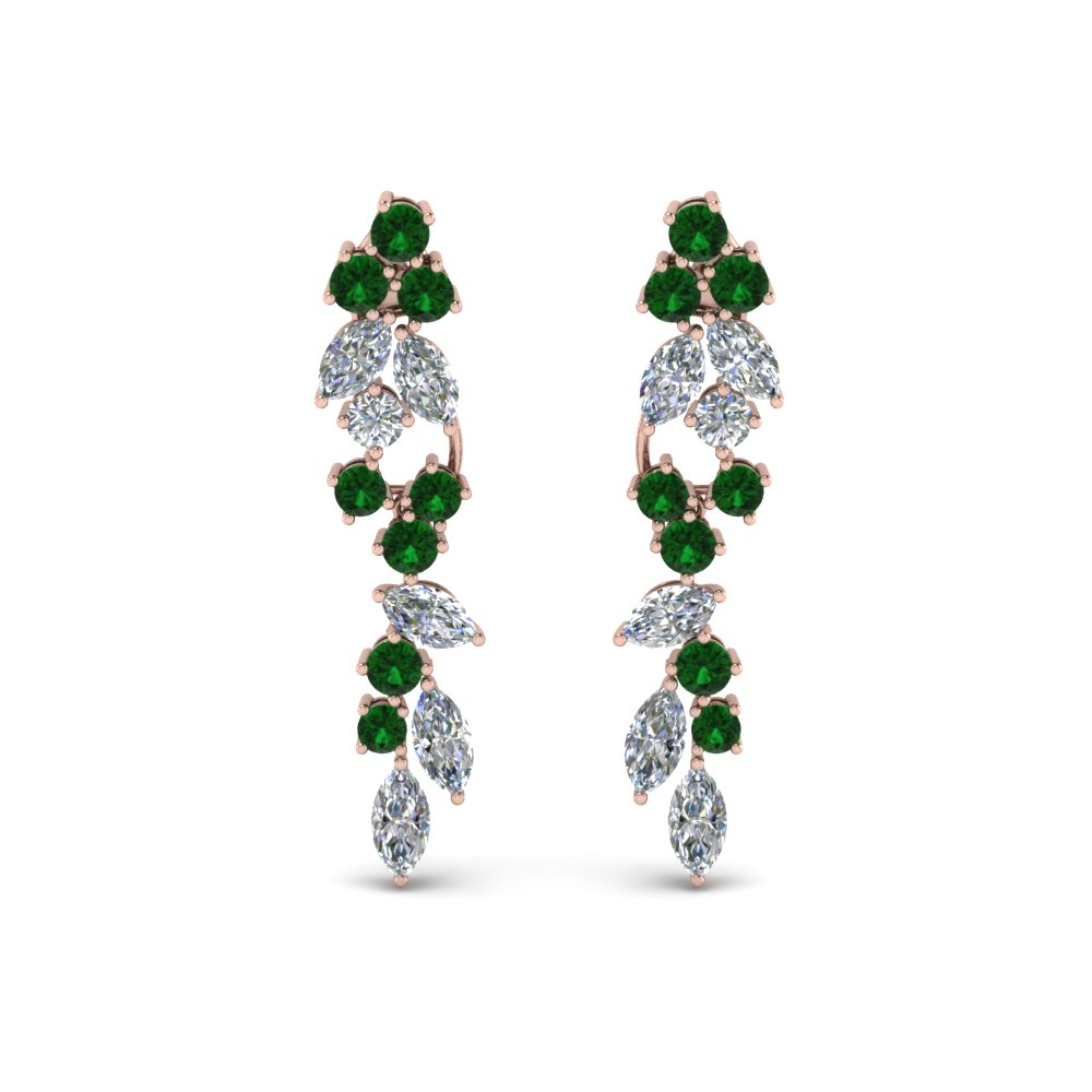 Marquise And Round Diamond Earring