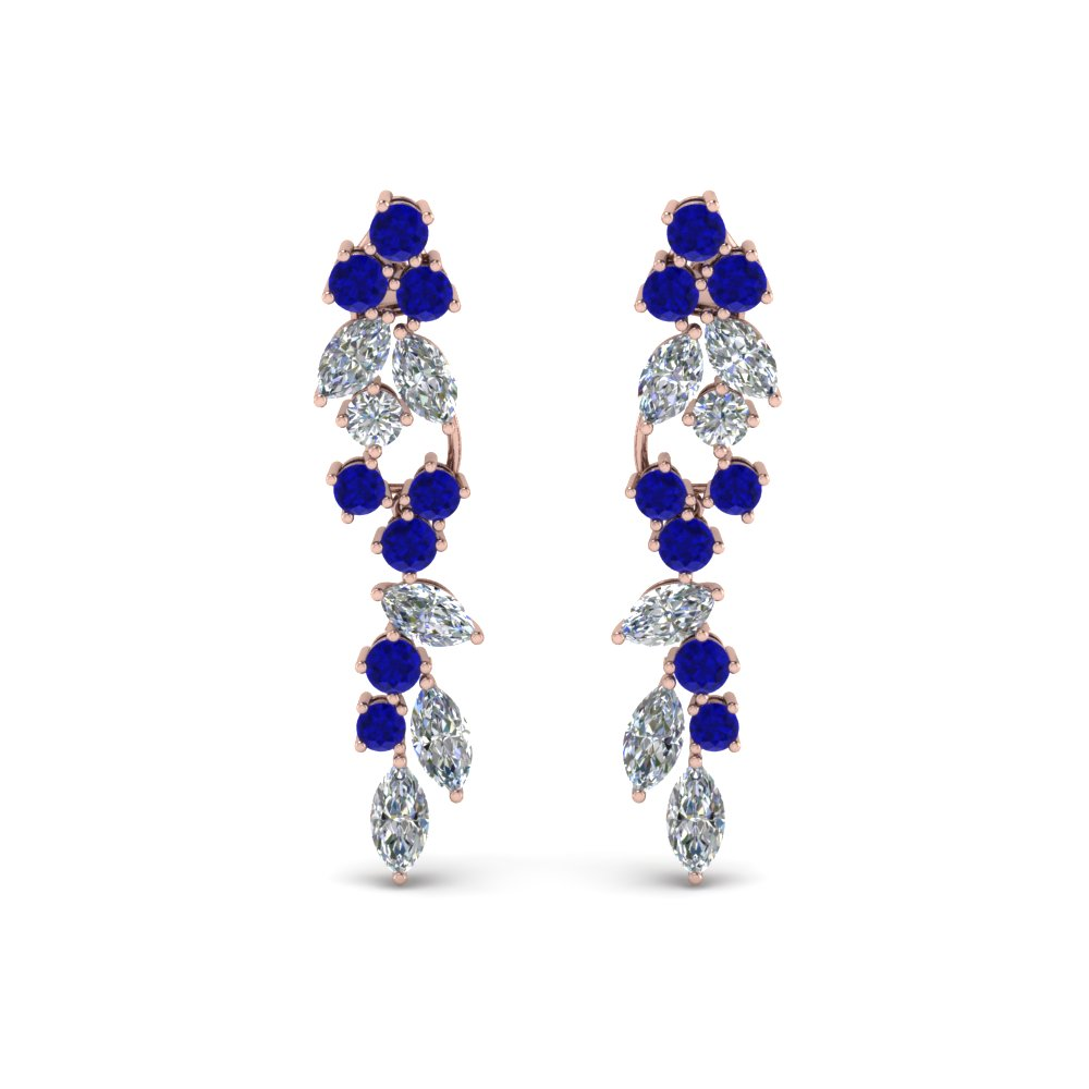 Sapphire Drop Dangle Earring