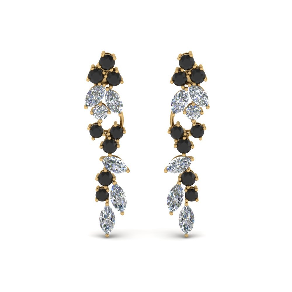 Black Diamond Drop Dangle Earring