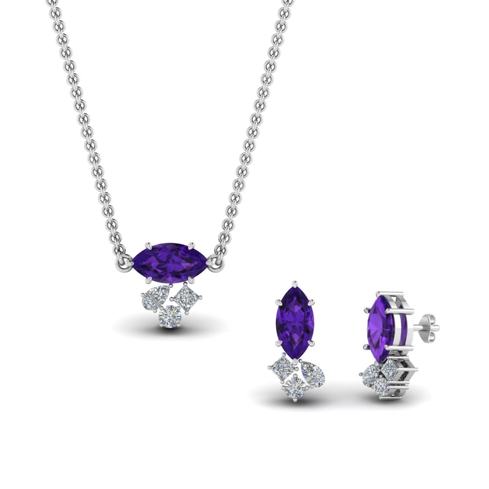 cluster-marquise-pendant-and-matching-earring-with-amethyst-in-FD9291GAMST-NL-WG
