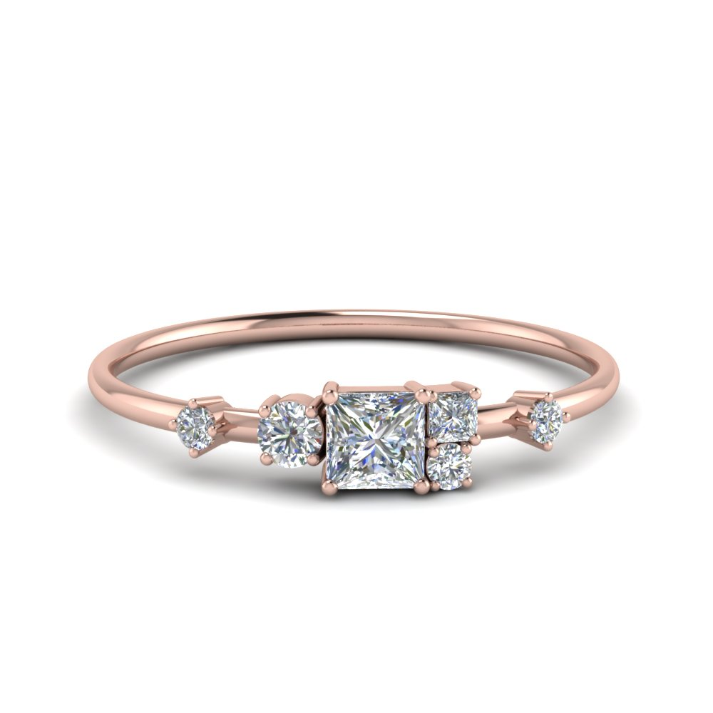 Cluster Diamond Wedding Band