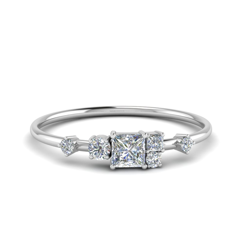 Non Symmetrical Diamond Ring
