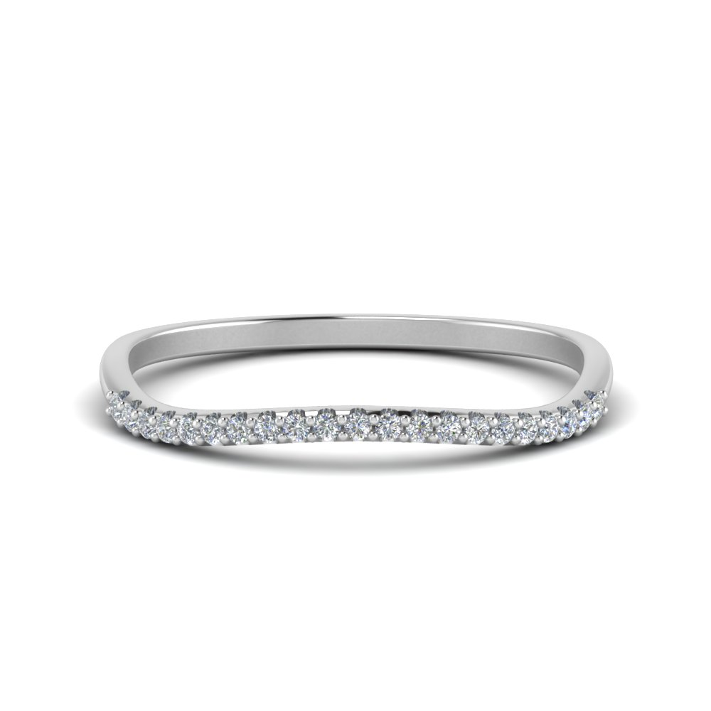 Round Cut Curve Diamond Band