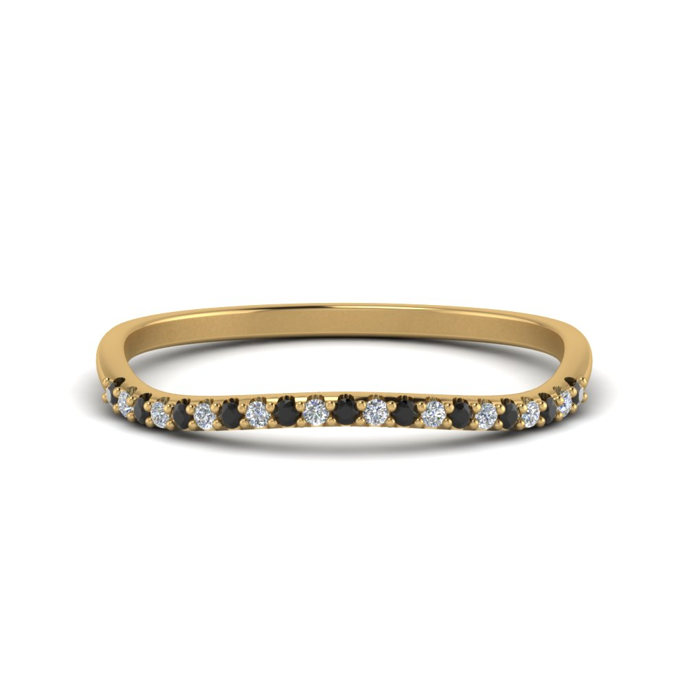 Contour Black Diamond 18K Gold Band