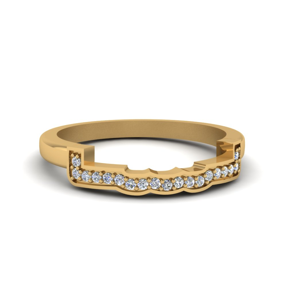 Contour Curved Diamond Band