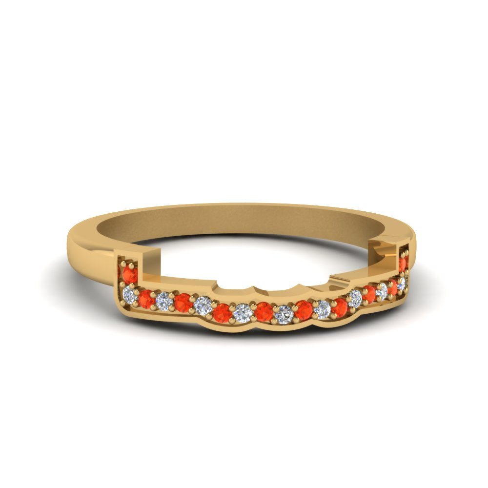 contour curved diamond wedding band with orange topaz in FDENS3309BGPOTO NL YG.jpg