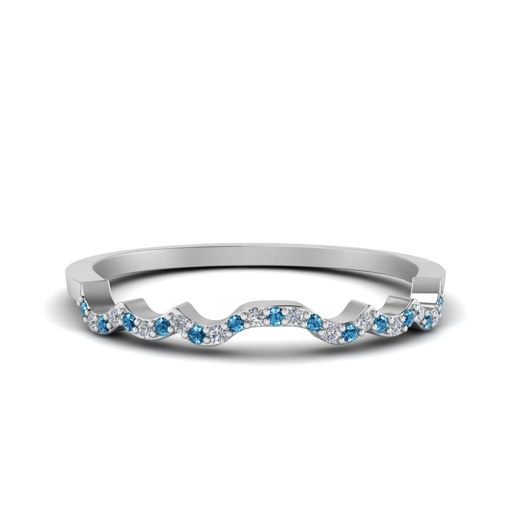 Blue Topaz Wedding Band