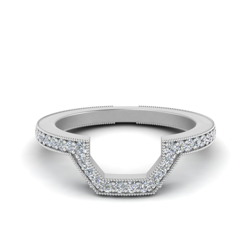 Contour Vintage Diamond Wedding Band