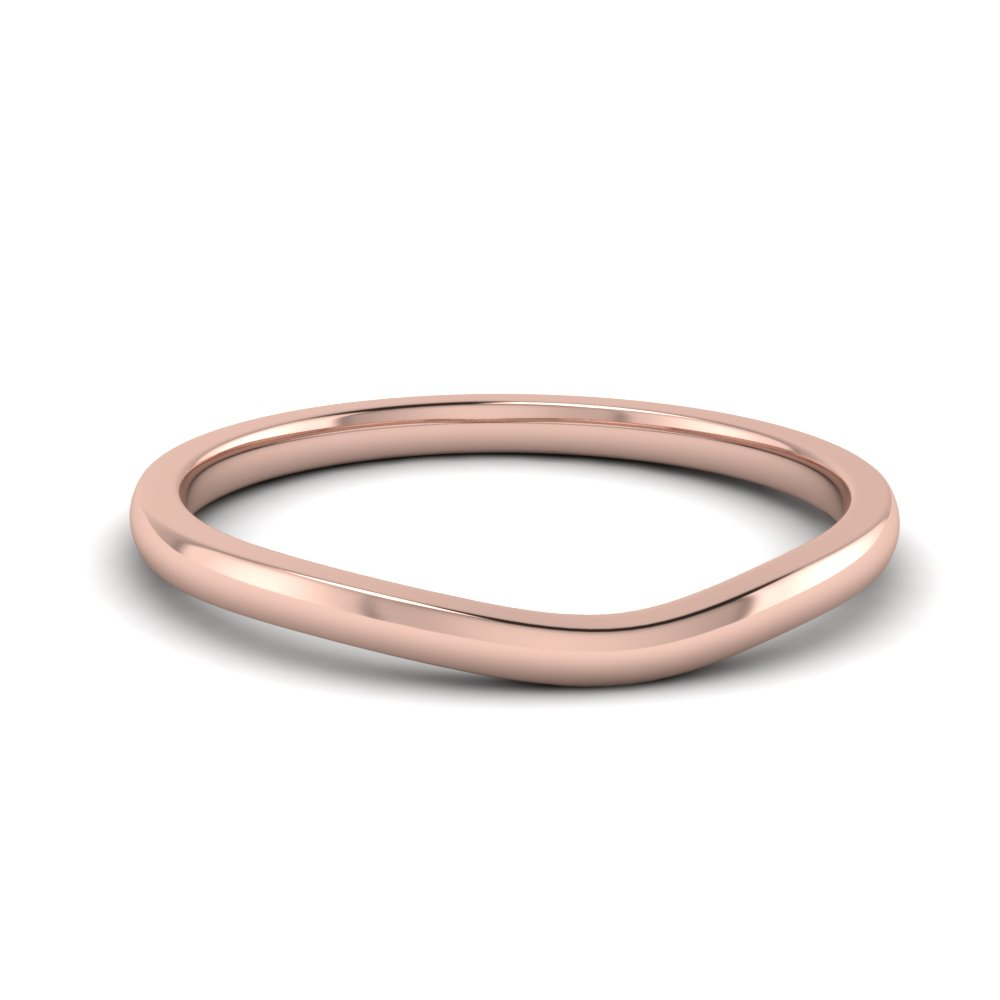 Plain Contour Wedding Band