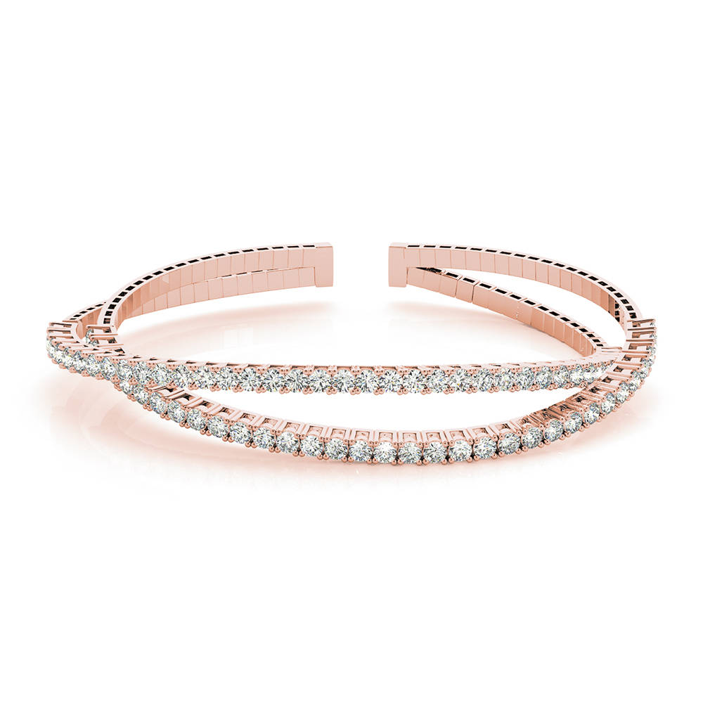 criss cross cuff diamond bracelet in FDOBR70478 NL RG