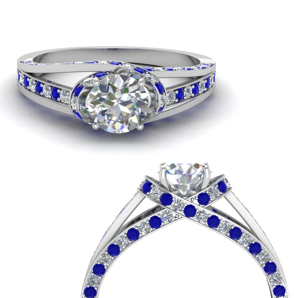 criss cross halo diamond engagement ring with sapphire in FDENR8359RORGSABLANGLE3 NL WG.jpg