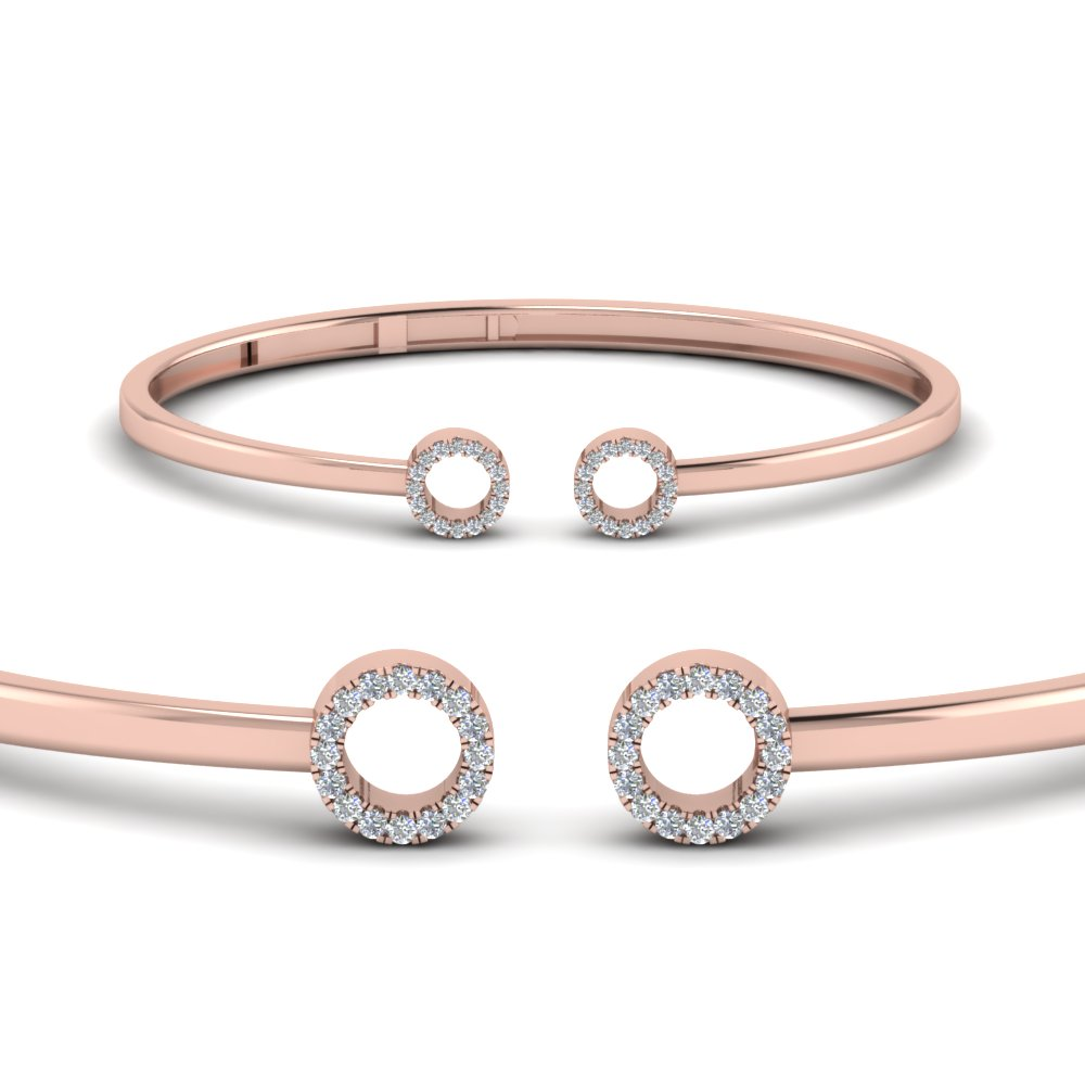 Two Circles Hinged Diamond Bracelet