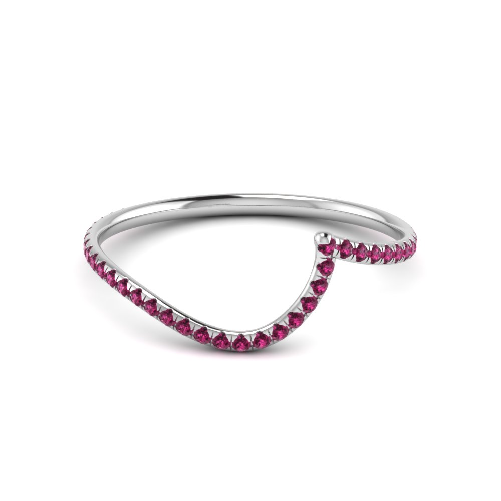 Curved Band With Gemstone