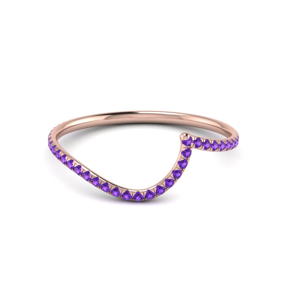 Unique Gemstone Women's Wedding Band