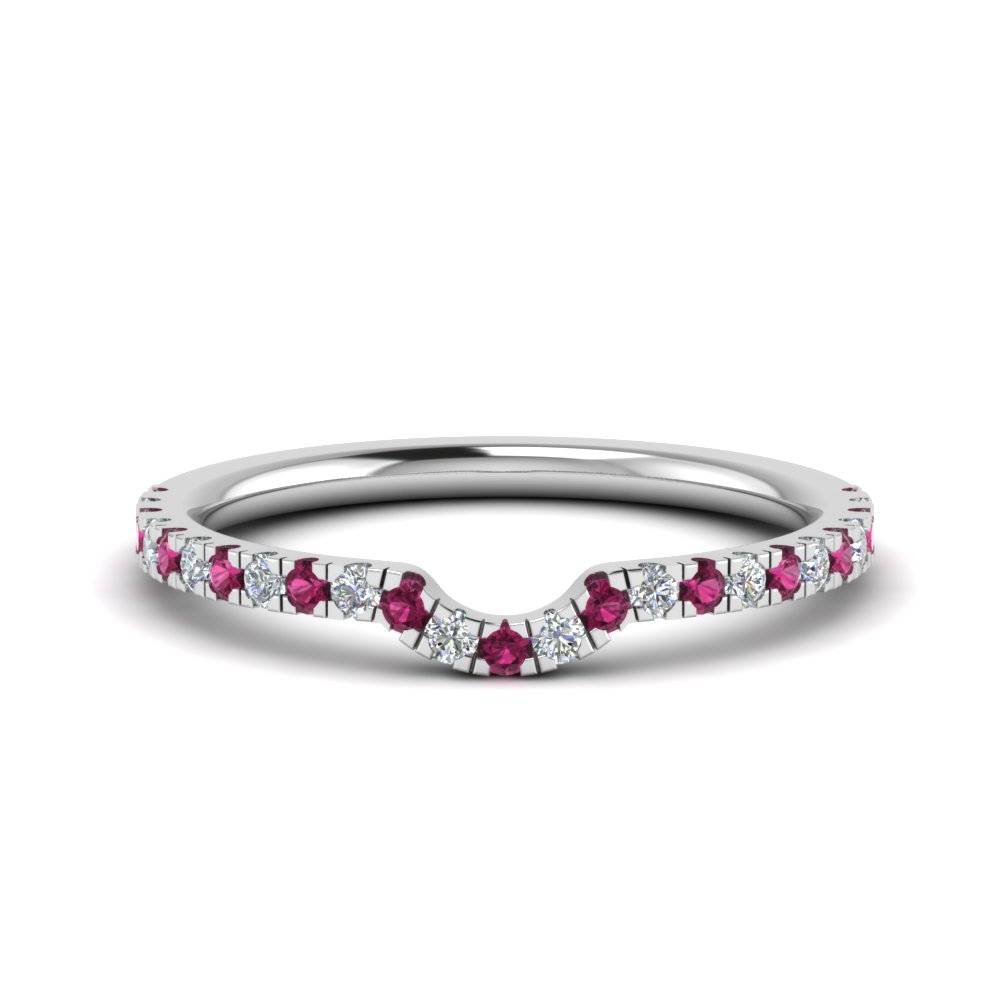 curved custom diamond wedding band with pink sapphire in FD9128BGSADRPI NL WG.jpg