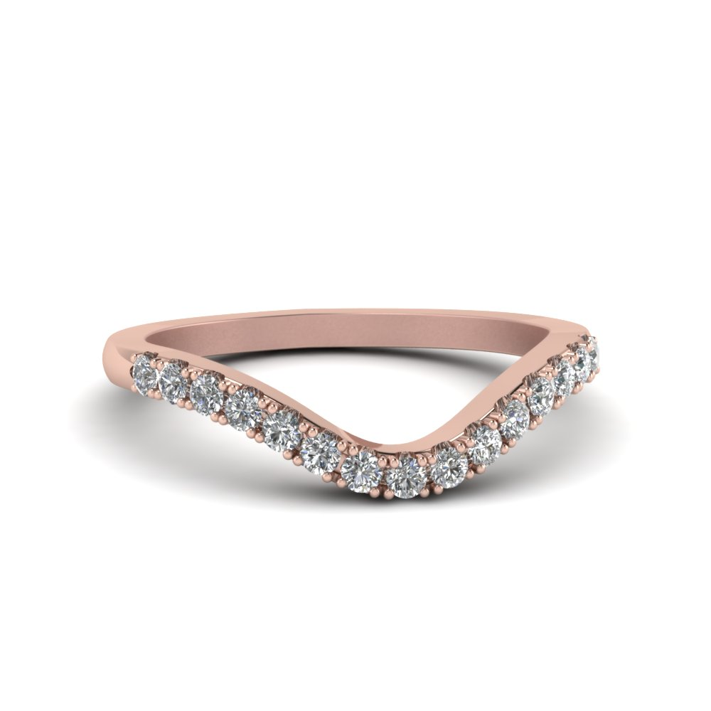 Curved Contour Diamond Band