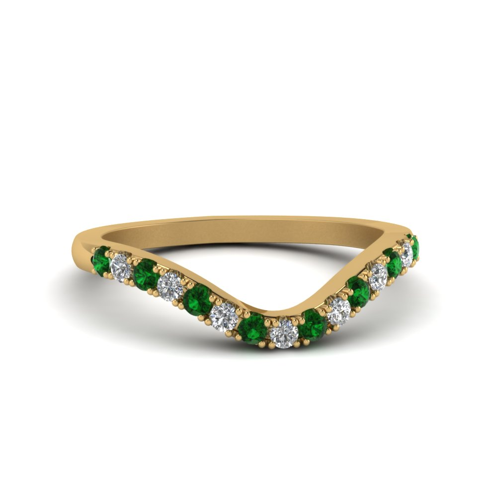 curved-delicate-diamond-band-with-emerald-in-14K-yellow-gold-FDENS2232BGEMGR-NL-YG