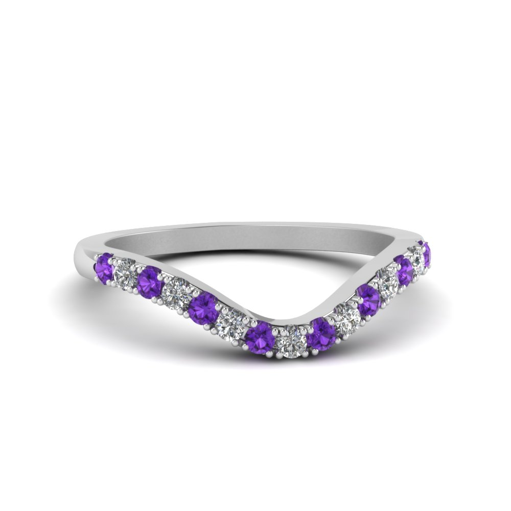 Curved Delicate Diamond Band