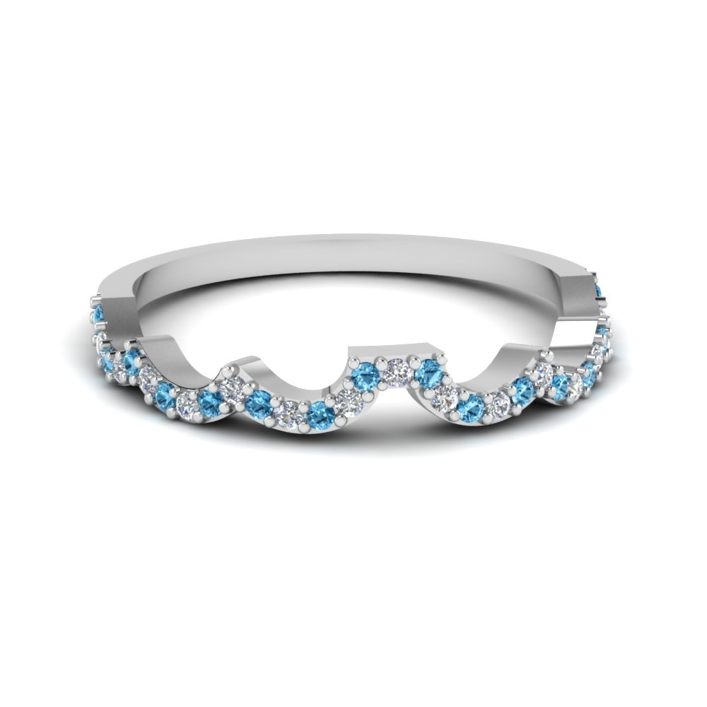 deff089fe curved diamond wedding band for women with blue topaz in 14K white gold  FDENS3051BGICBLTO NL WG