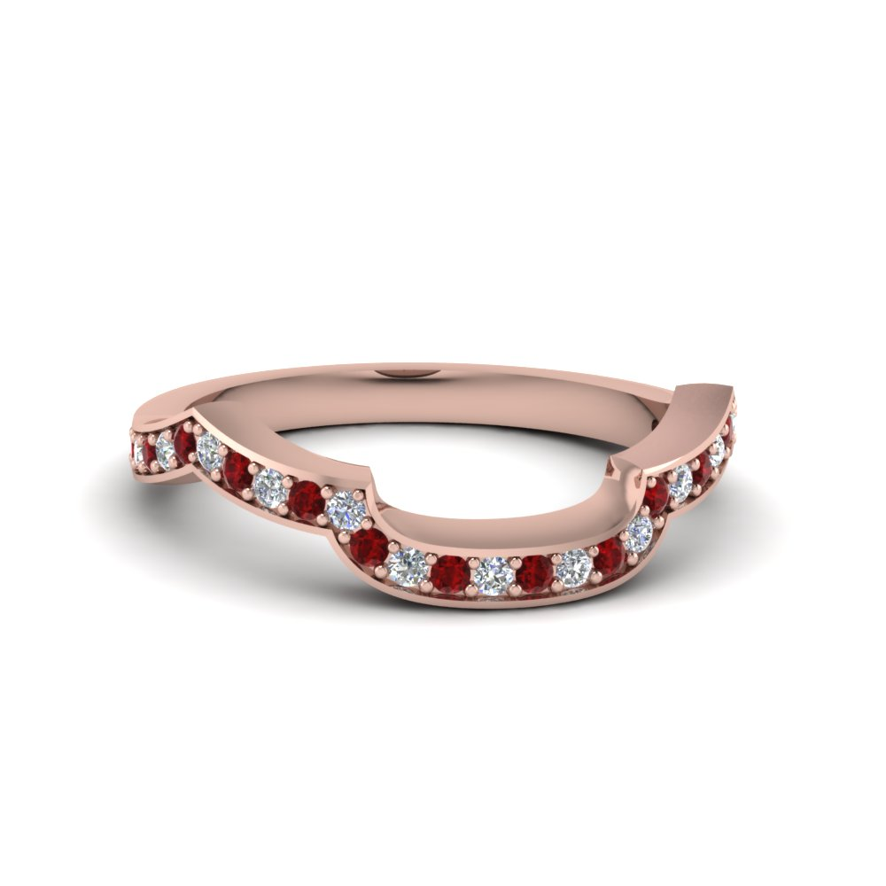 Accent Ruby Diamond Curved Band