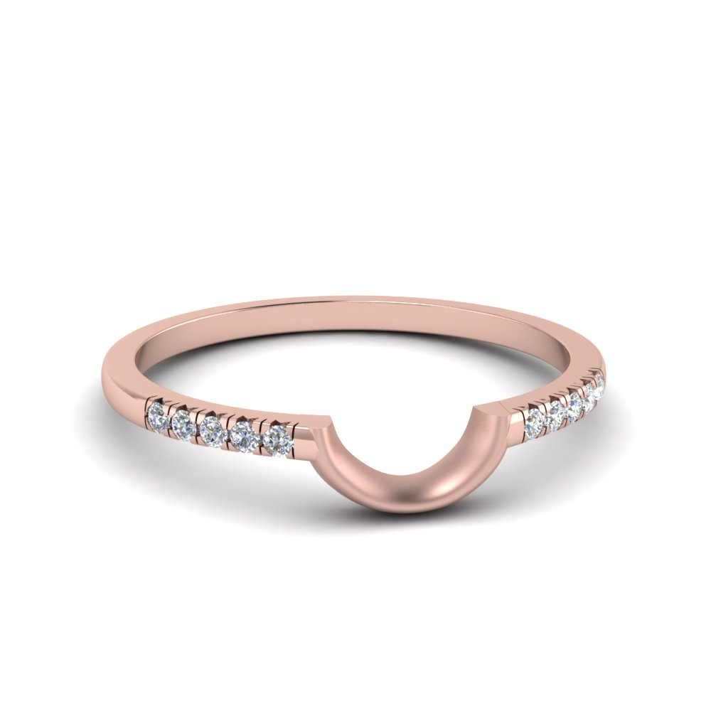 Curved French Pave Diamond Band