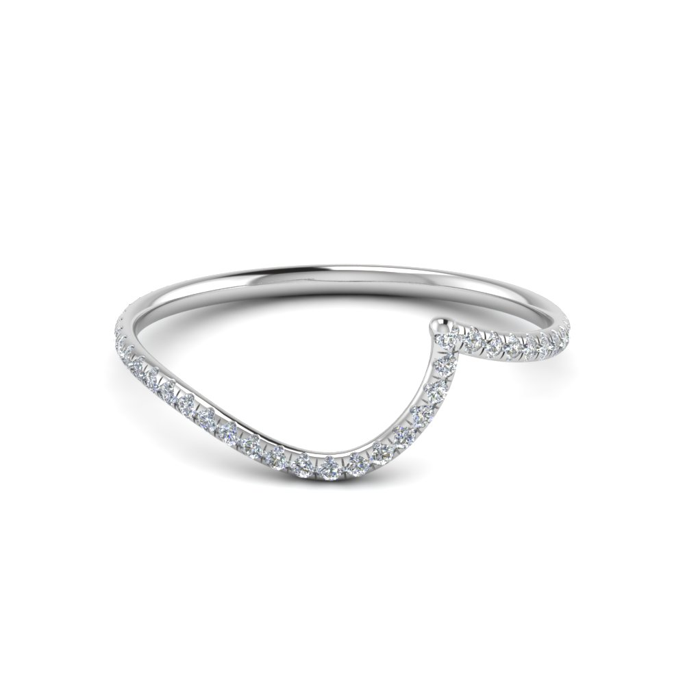curved matching diamond band for wedding ring in FDENS1295B NL WG
