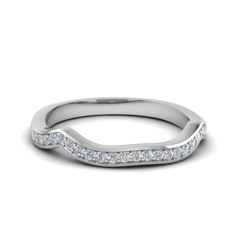 curved pave diamond custom wedding band in 14K white gold FDENS3319B NL WG