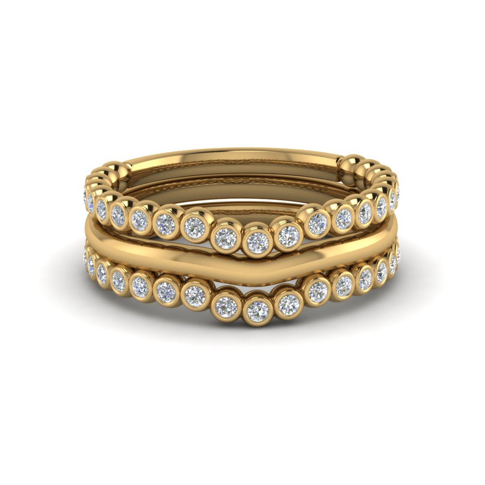 Bezel Set Diamond Cheap Stackable Bands
