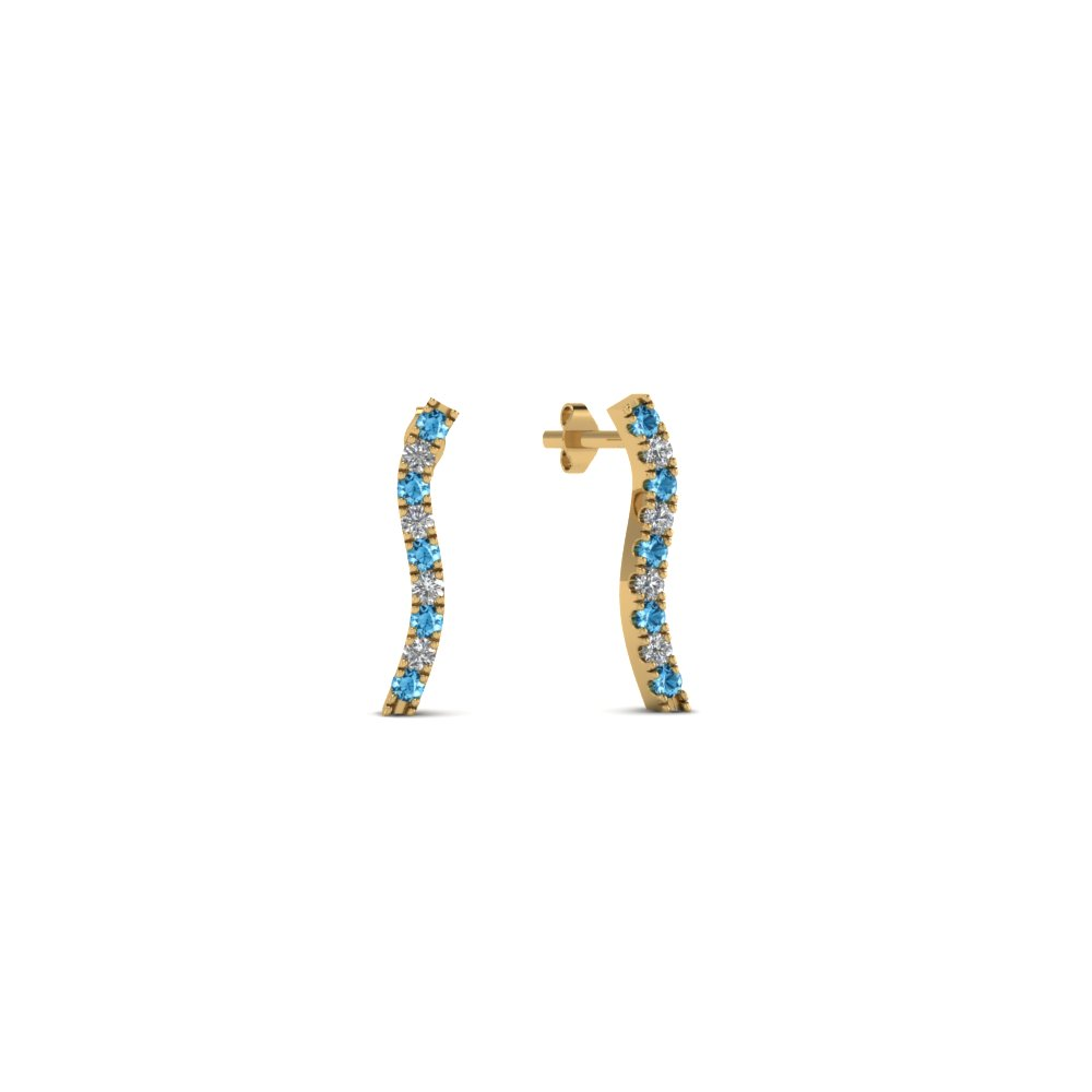 curved-stud-diamond-earring-for-women-with-blue-topaz-in-FDEAR8107GICBLTO-NL-YG