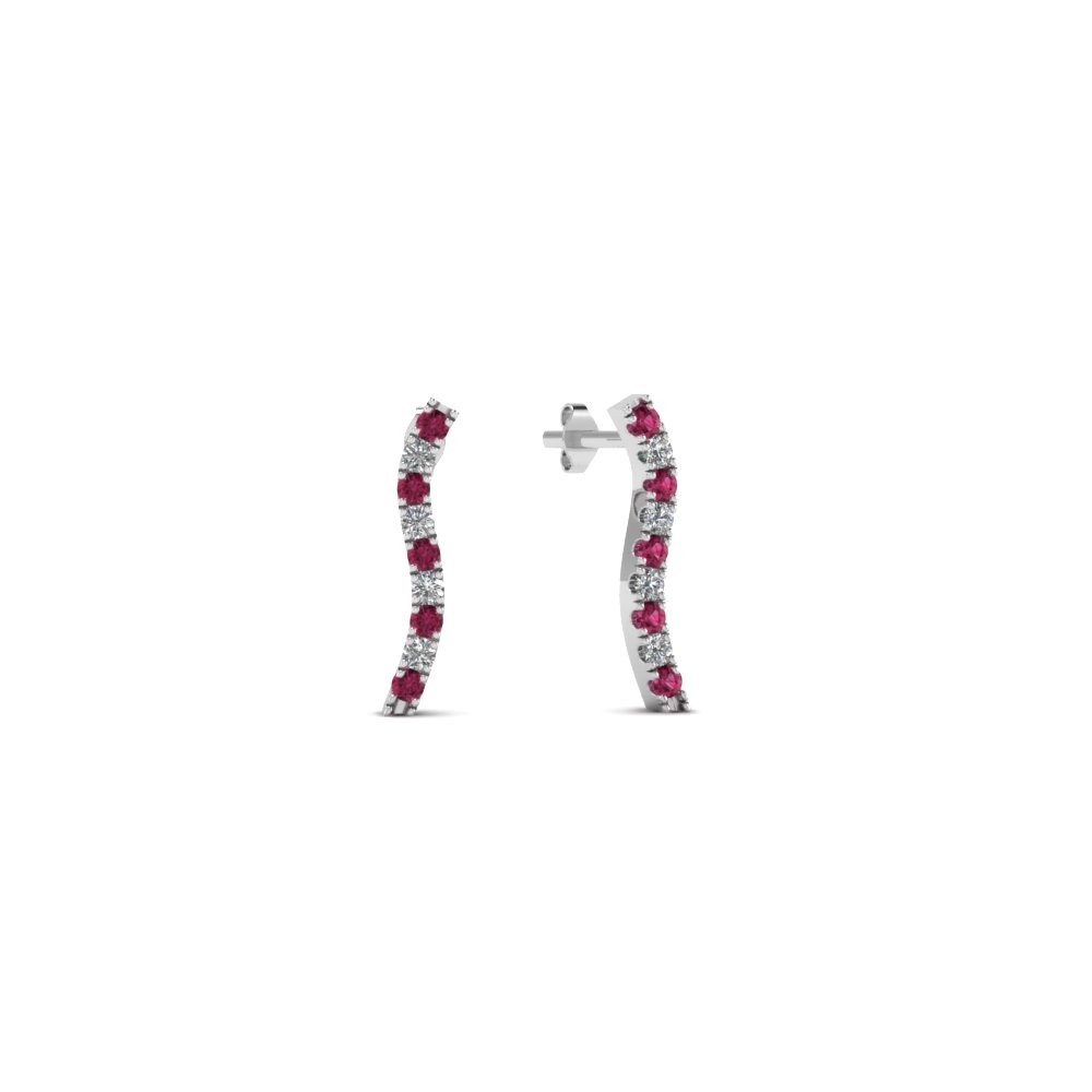 curved-stud-diamond-earring-for-women-with-pink-sapphire-in-FDEAR8107GSADRPI-NL-WG