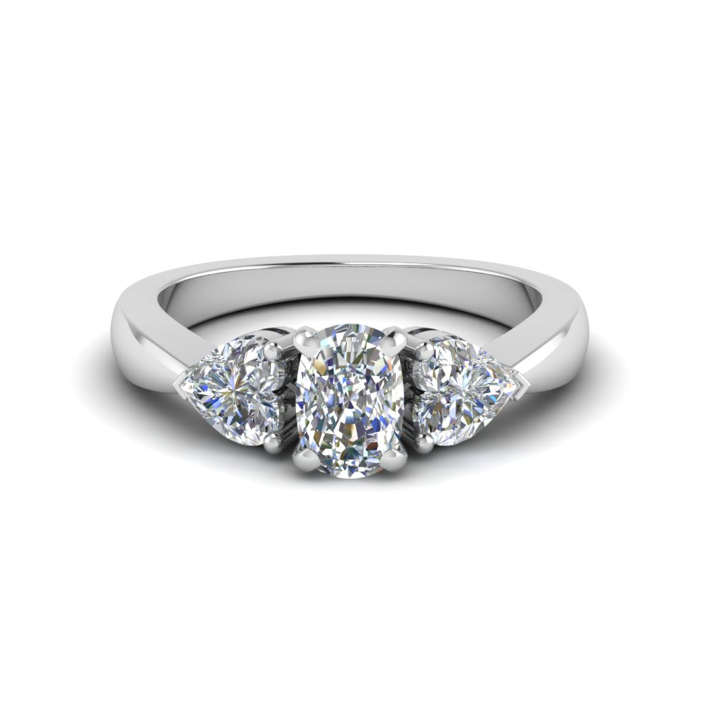 White Gold Cushion Diamond Ring