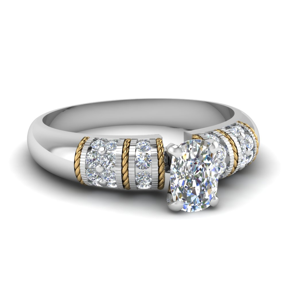Cushion Diamond Vintage Rings