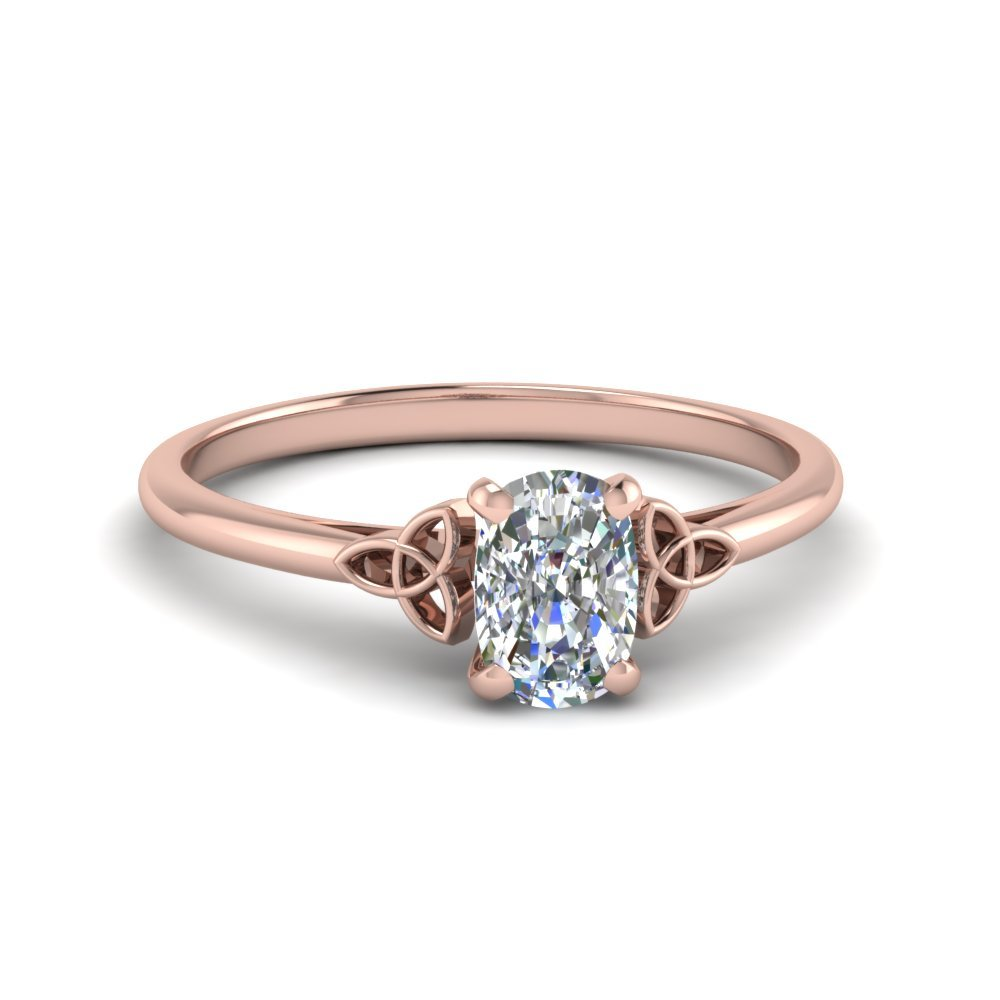 Cushion Cut Celtic Solitaire Ring