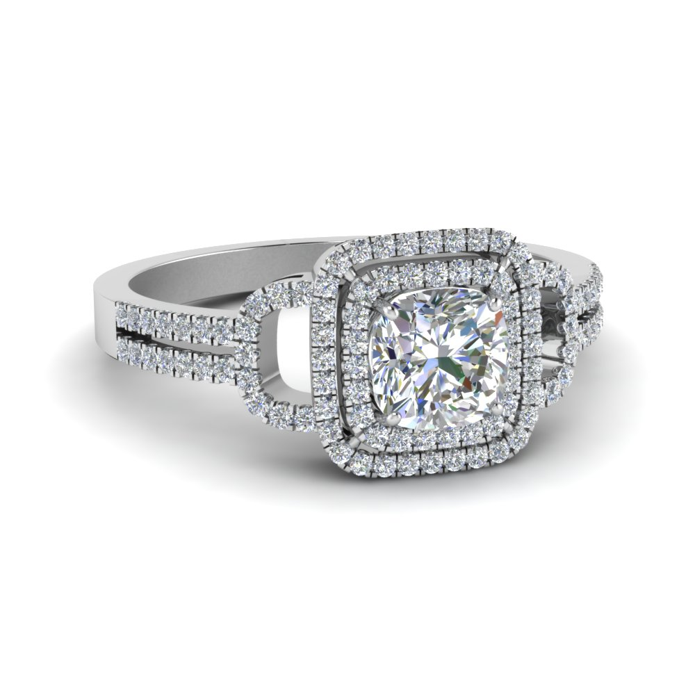 Diamond Halo Wedding Ring