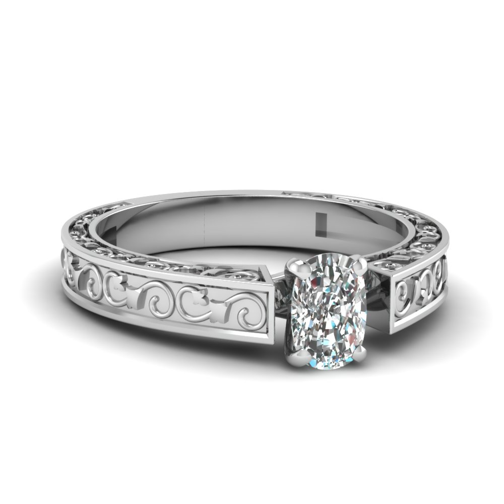 cushion cut filigree solitaire engagement ring in FDENS3583CUR NL WG.jpg