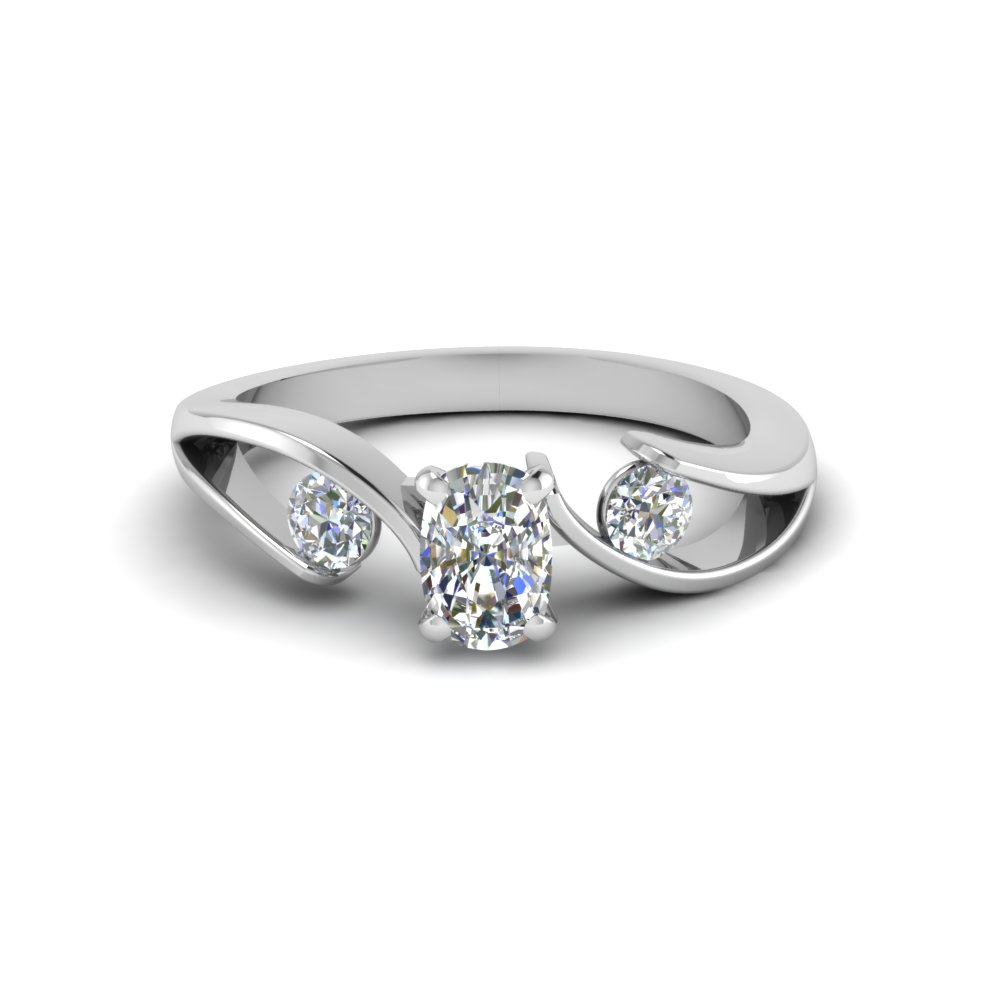 Cushion Cut Half Carat Diamond Engagement Rings