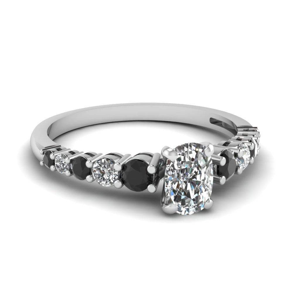 Delicate Black Diamond Rings