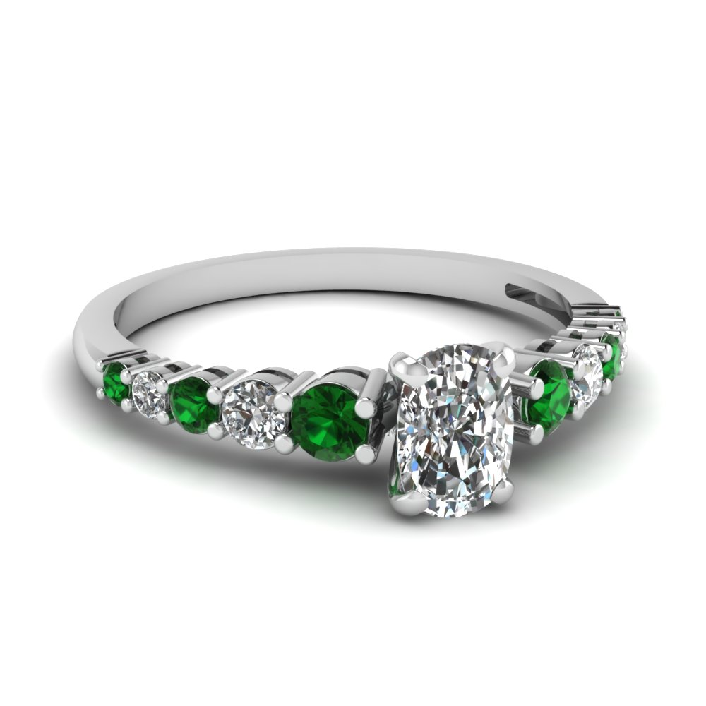 green diamond blossom oval cz faux wedding engagement zirconia cubic tri cocktail cut products stone rings light emerald anniversary ring three