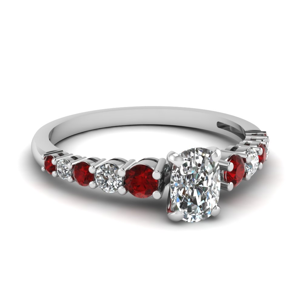 rings with engagement diamond ring ruby accent accents vintage