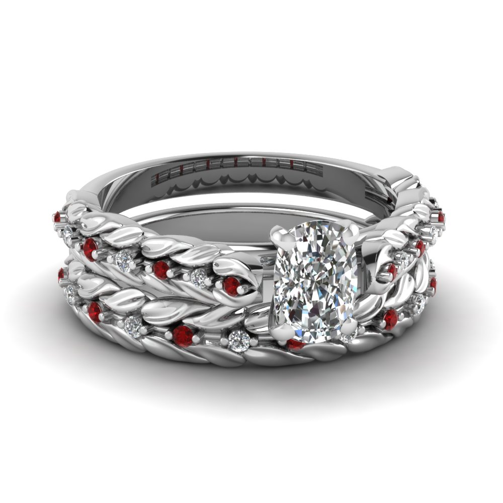Ruby Wedding Ring Sets
