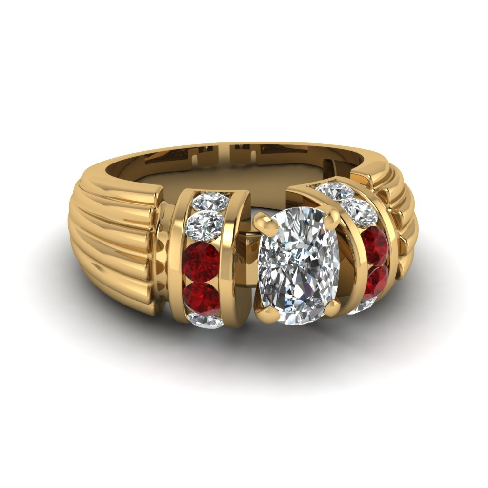 Celebrity Ruby Engagement Ring