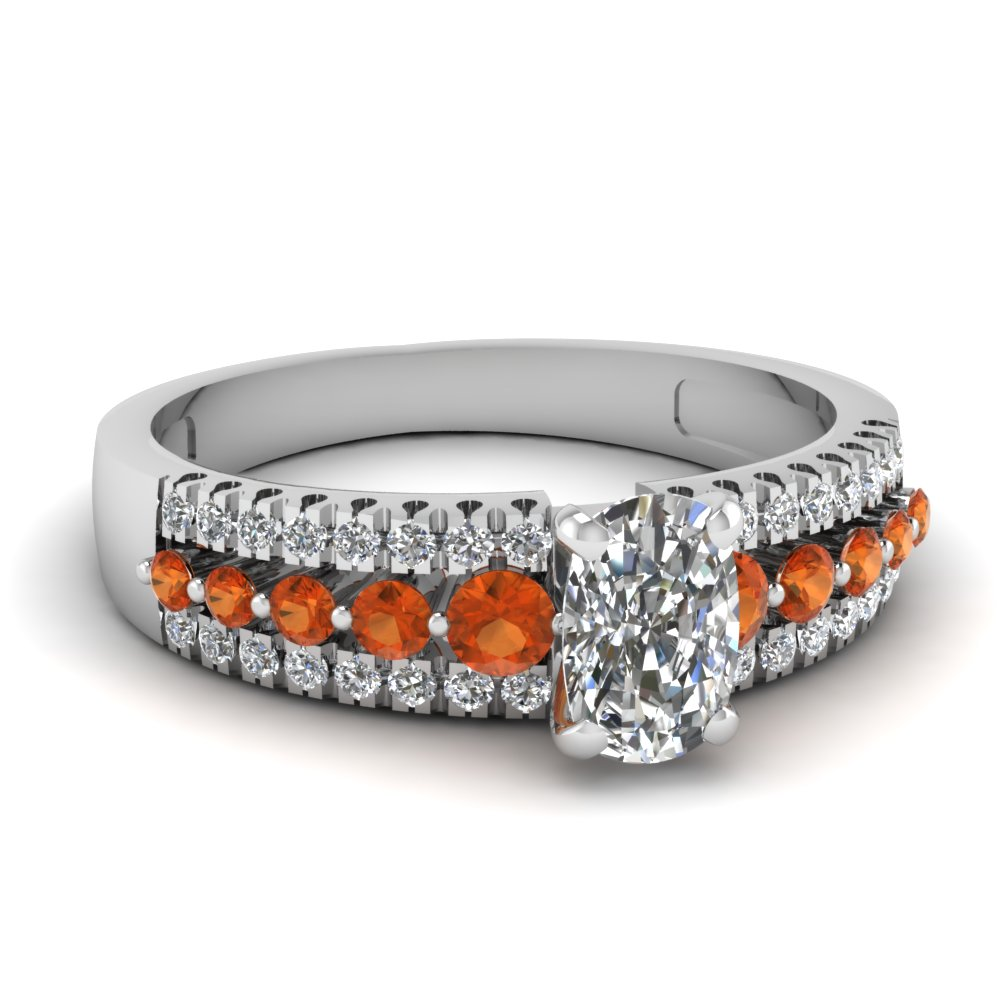 shop for stunning orange sapphire engagement ring